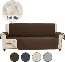 Anti-slip Sofa Couch Slipcover Cover for Leather Sofa Furniture Protector 3-Seat