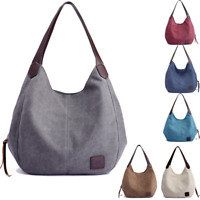 Women Canvas Handbag Shoulder Bags Large Tote Purse Travel Messenger Hobo Bag