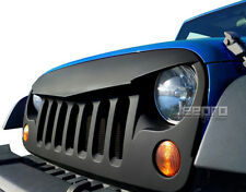 Wrangler Angry Grille Shell 2007-2017 Jeep Wrangler JK - Paintable Matte Black