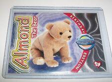 Ty S4 Rare Silver *Almond The Bear * Beanie Birthday Card Insert #273