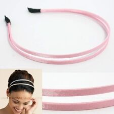 CELEBRITY DOUBLE HAIR HEADBAND GOSSIP GIRL PINK HB1056