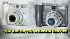 CANON A580 OR A590 IS CAMERA REPAIR SERVICE-60 DAY WARRANTY-FREE RETURN SHIPPING