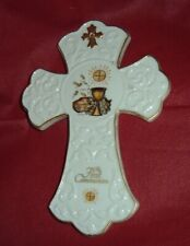 FIRST COMMUNION Wall Porcelain Cross by Hummel 7 1/4 INCHES HIGH Beautiful NEW