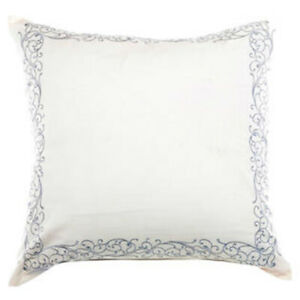"New Laura Ashley Whitfield European Pillow Sham Ivory Size Euro 26""W X 26""L"