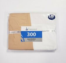 New Impressions By Luxor Treasures Queen Bed Skirt Egyptian Cotton 300Tc Beige