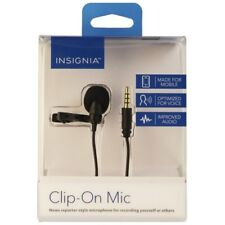 Insignia Lavalier Microphone Clip on Mic Made for Mobile 6 ft -Black NS-MCMIC10