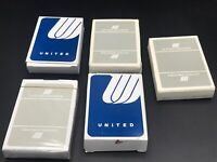Vintage United Airlines Playing Cards Sealed And Used Lot Of 5