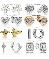 New  PANDORA Earrings ALE S925 Sterling Silver + Free Pandora Pouch & Gift Bag
