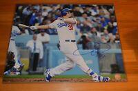 Joc Pederson Autographed Los Angeles Dodgers 16x20 Color MLB Photo with JSA COA