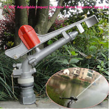 "2"" 360° Adjustable Impact Sprinkler Large Area Water Irrigation Spray Tool Solid"