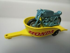 Vintage 1960s Era Matchbox - Honda Motorcycle and Trailer No 38 - Mint