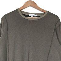 CALVIN KLEIN Green Crew Neck Long Sleeve Pullover Jumper Sweatshirt - Mens Large