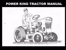 POWER KING TRACTOR OPERATION & PARTS MANUAL 100pg Kohler Engine Service & Repair