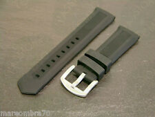 Silicon Strap Black Band Cinturino Nero in Silicone Fibbia Acciaio 22mm e 24mm