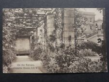 Isle of Wight: On The Terrace, Osborne House - Old Postcard by The Woodbury