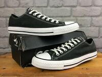 CONVERSE UK 8.5 EU 42 BLACK CHUCK TAYLOR ALL STAR LOW TOP CANVAS TRAINERS K