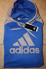 NWT ADIDAS Big & Tall Men's Climawarm Athletic Hoodie Sweatshirt Blue/Gray 4XL