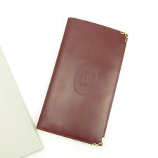 Cartier Wallet Purse Mastline Red Gold Woman unisex Authentic Used Y7298