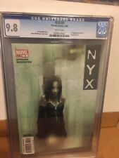 "NYX #3 CGC 9.8 Modern Key 1ST App of X-23 Laura Kinney...""Wannabe Part 3"""