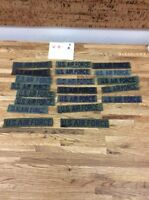 Original Vietnam War US Air Force Military Green Uniform NAME TAPE V-8-4