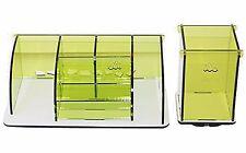 2 Detachable Acrylic Cosmetics Makeup Jewelry Organizer Storage Box Containers