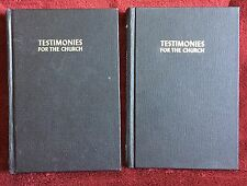 Ellen G White Duo: Testimonies for the Church Volumes 1 and 4 Black HB 1948 SDA