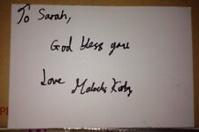 MALACHI KIRBY SIGNED 6X4 WHITE CARD TV AUTOGRAPH ROOTS & EASTENDERS TO SARAH