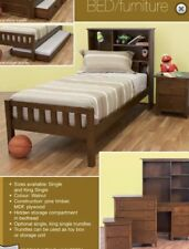 king single bed with head storage plus trundle NEW Kids New