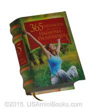 365 Mensagens para viver em harmonia e prosperidade livro em miniatura book easy