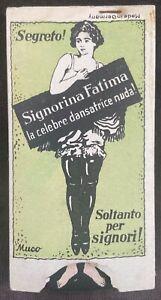German 1930's Finger-Trap Joke - Fatima The Nude Dancer!