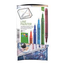 Derwent Graphik Line Painter Palette 2 - Set of 5 Paint Pens - Earth