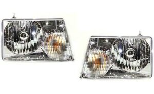 New Head Lamp Assembly Left & Right For Ford Ranger 2001-11 FO2502173 FO2503173