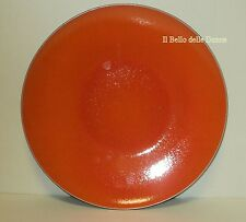 **-40%** Piatto vassoio rotondo etnico in porcellana arancio e nero