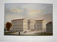 Schwerin  Regierungsgebäude  Meckenburg - Vorpommern seltener  Stahlstich 1845