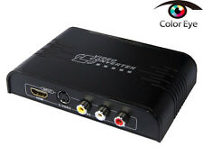 New Composite/S-Video+HDMI to HDMI,S-video and RCA to HDMI Converter Up-Scaler