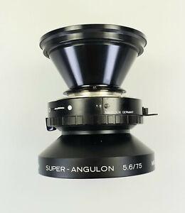 SCHNEIDER SUPER-ANGULON 5,6/75 MC Compur 0 für Großformat-Fotografie TOP