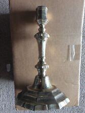 Ancien chandelier hexagonale bronze argenté