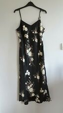 Gorgeous Black & Cream Floral Strappy Dress from Amaranto - Size 12 - BNWOT!
