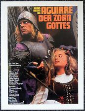 AGUIRRE THE WRATH OF GOD 1972 GERMAN FILM MOVIE POSTER PAGE . WERNER HERZOG V26