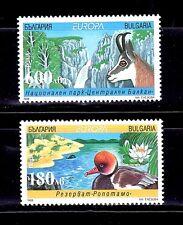 SELLOS TEMA EUROPA 1999 BULGARIA FAUNA RESERVAS NATURALES 2v.
