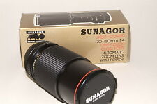 Canon FD Fit Sunagor f4.0 Lente 70-180mm