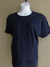 NEW New Hanes 2X Cotton Jersey S/S Crew Neck Tee Shirt Navy