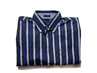 Tommy Hilfiger Mens Shirt Size L 80s 2 Ply Fabric Long Sleeve Button Up