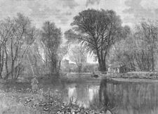 ENFIELD & WALTHAM. On the Lea. Middlesex 1888 old antique print picture