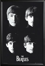 THE BEATLES CLASSIC POSTER FRAMED in Premium Black Wood Frame, Size 24x36