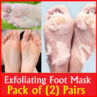 2 Pair Exfoliating Peeling Off Foot Mask Baby Soft Feet Removes Callus Dead Skin