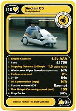 Sinclair C5 - Crap Cars Series 1 Trumps Card (C2523)
