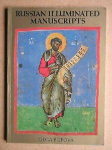 Russian Illuminated Manuscripts. By Olga Popova. 1984 PB. Colour Plates