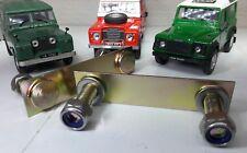 Land Rover Serie 2 2a 3 Schutz Schott Schweller Bolt Platte Edelstahl Mutter x2