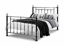 Julian Bowen Marquis Black Nickel Crystal 135cm 4FT6 Double Metal Bed Frame